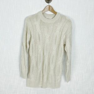 NEW H&M Cream Cable knit Sweater XS